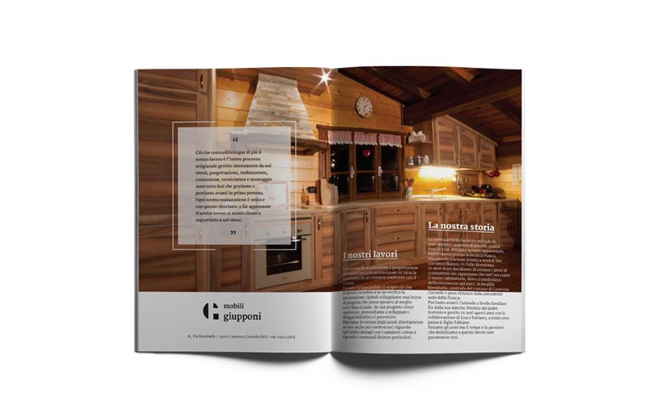advertisement inserto pubblicità mobilificio wooden wood grafica graphic design