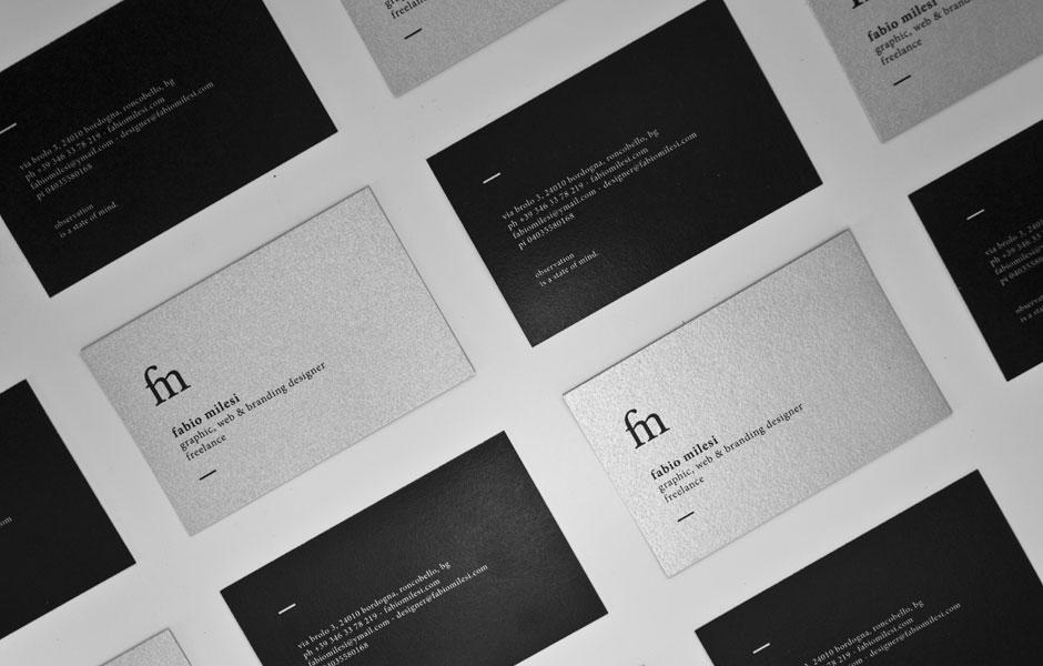 back busnesscard fabio milesi designer graphic print paper self branding project logo italiano bergamo