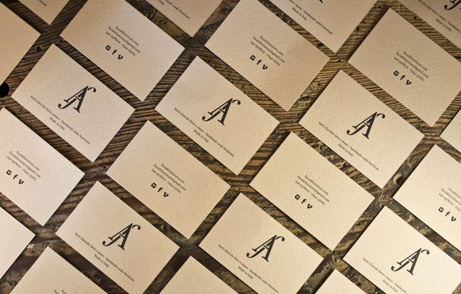 businesscards double face furniture barrel handmade artisan craft madeinitaly wood wooden luxury whisky wine logo monogram