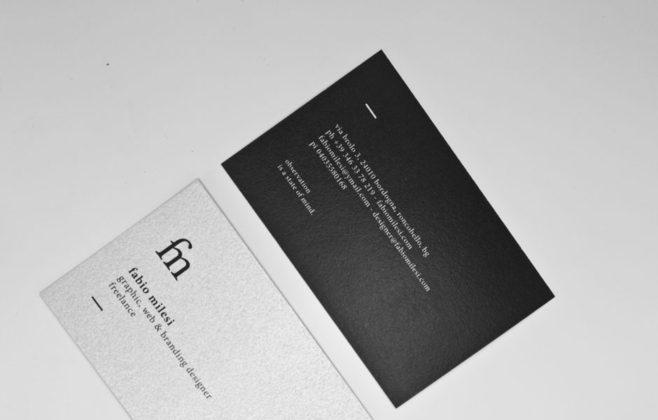Business cards self portfolio branding ligatures mockup pic mood foto black white elegant minimal