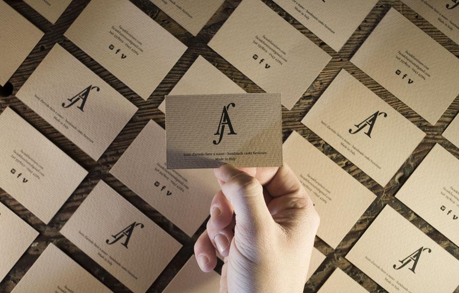 businesscards mockup hand furniture barrel handmade artisan craft madeinitaly wood wooden luxury whisky wine logo monogram
