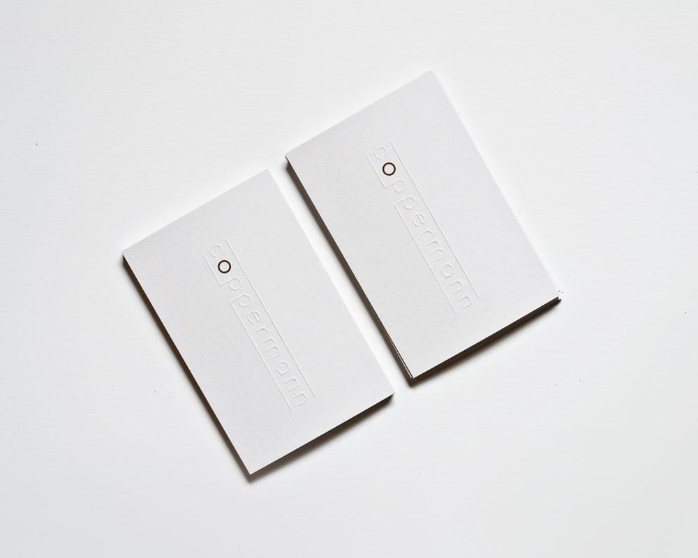 front double cables production aluminium copper tapes rebranding logo businesscards