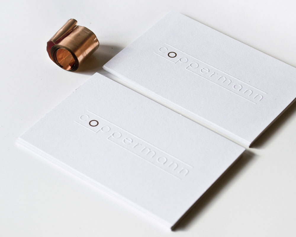 front businesscards work cables production aluminium copper tape