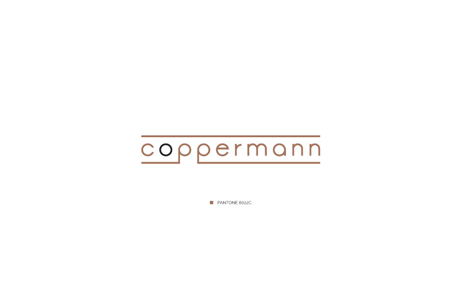 logo coppermann cables production aluminium copper tapes rebranding logo businesscards