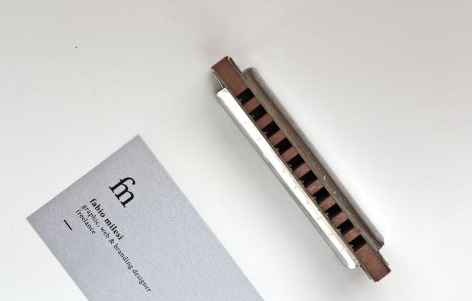 Harmonica design mockup portfolio mood businesscard fabio milesi designer inspiration