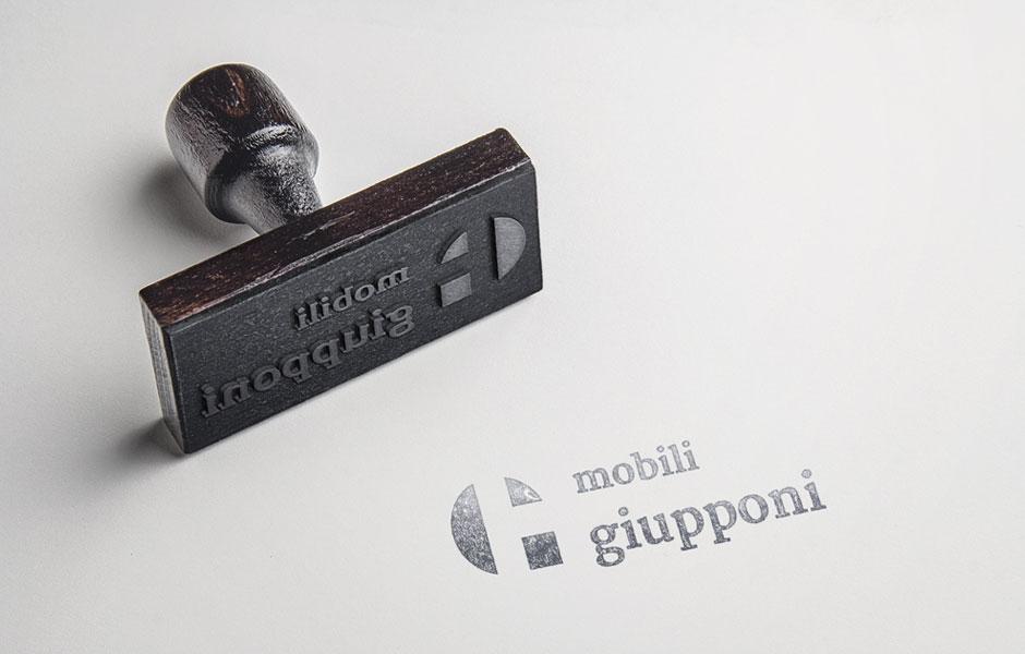 mobili giupponi brand logo marchio lettering design graphic handmade craft wood wooden artisan falegnameria mobilificio artigiani qualità