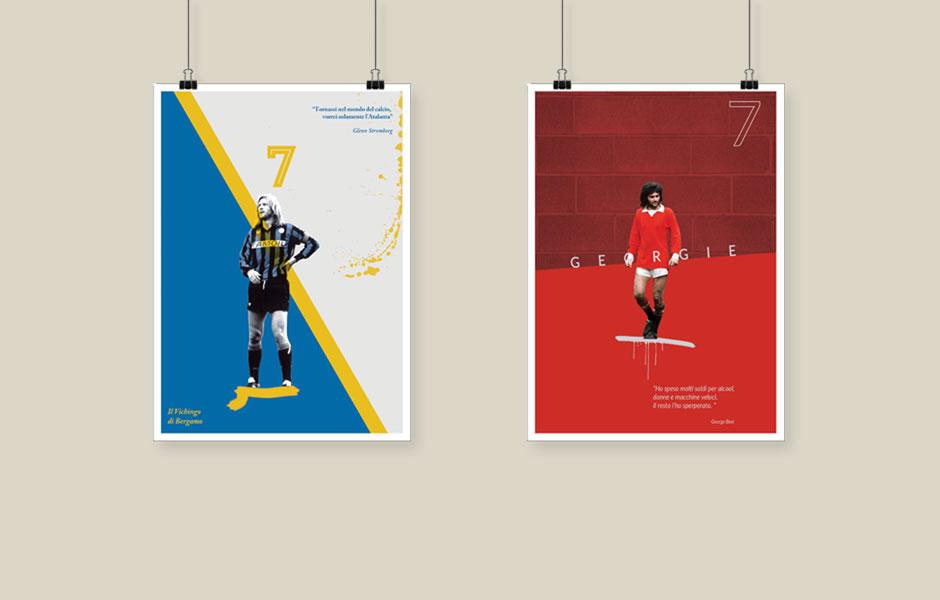 Poster Stromberg Best atalamta manchester united calcio football soccer history bergamo vichingo bar sport roncobello design fabio milesi
