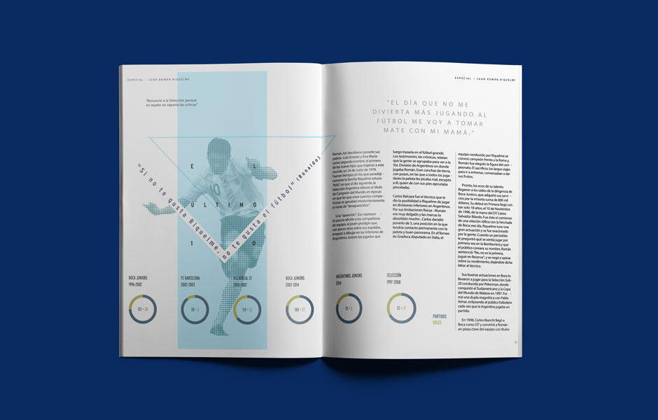 riquelme design infografico infografica progetto juan roman buenos aires boca fabio milesi