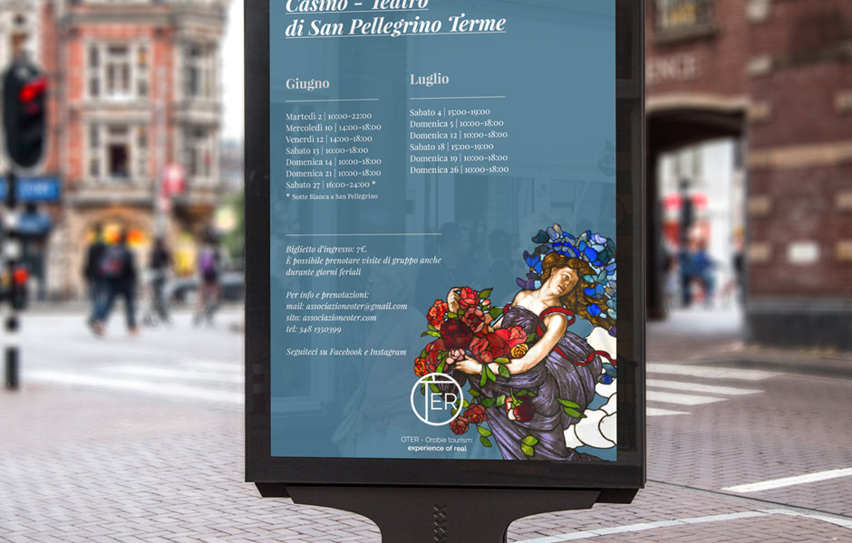 street poster oter casinò design pic mockup sanpellegrino milano bergamo tourists water liberty art nouveau terme