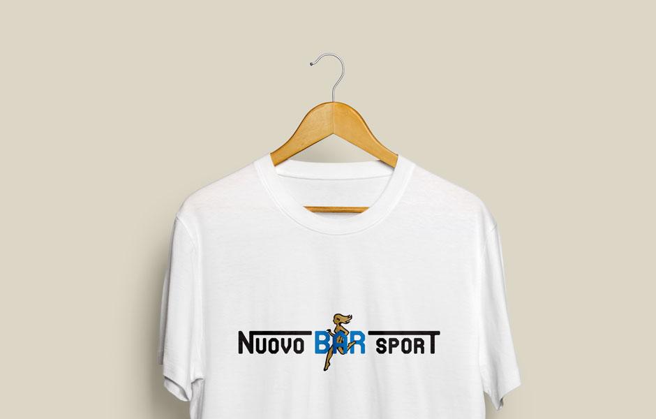 tshirt white logo nuovo bar sport mood clean pub logo mark vintage atalanta bergamo